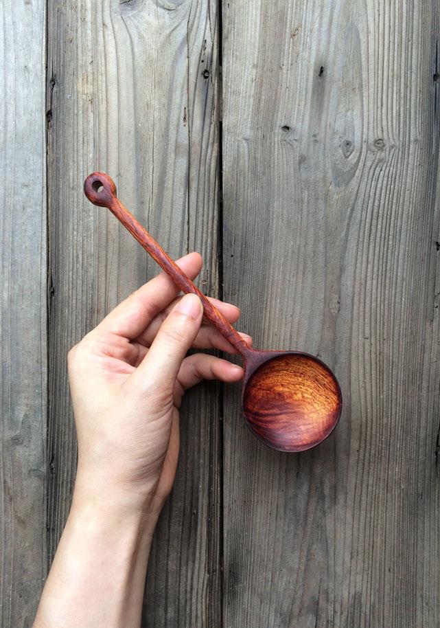 左迹/手作木勺子 上等酸枝木料 硬度高 日常家用勺 不开裂免保养