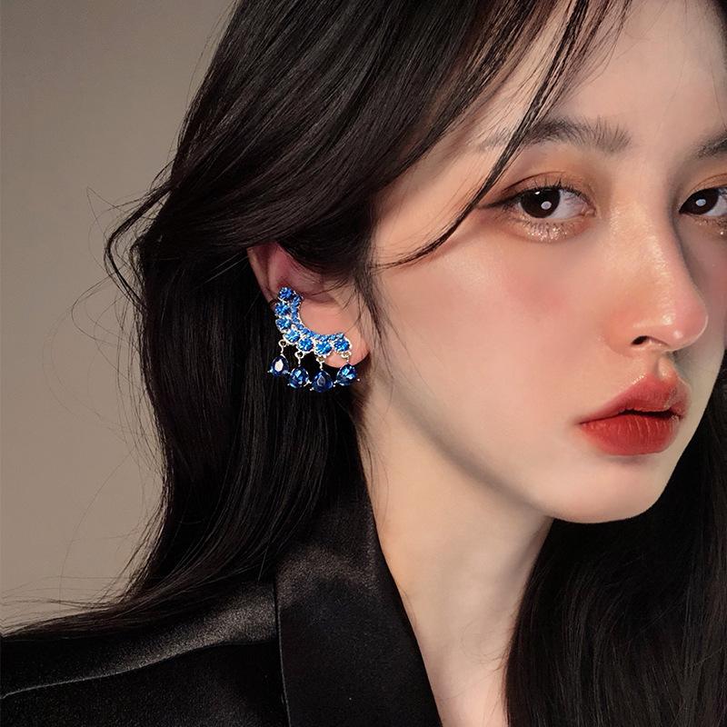 中國代購|中國批發-ibuy99|耳钉|韩国东大门同款925银针耳饰女高级感轻奢复古气质耳钉个性耳环