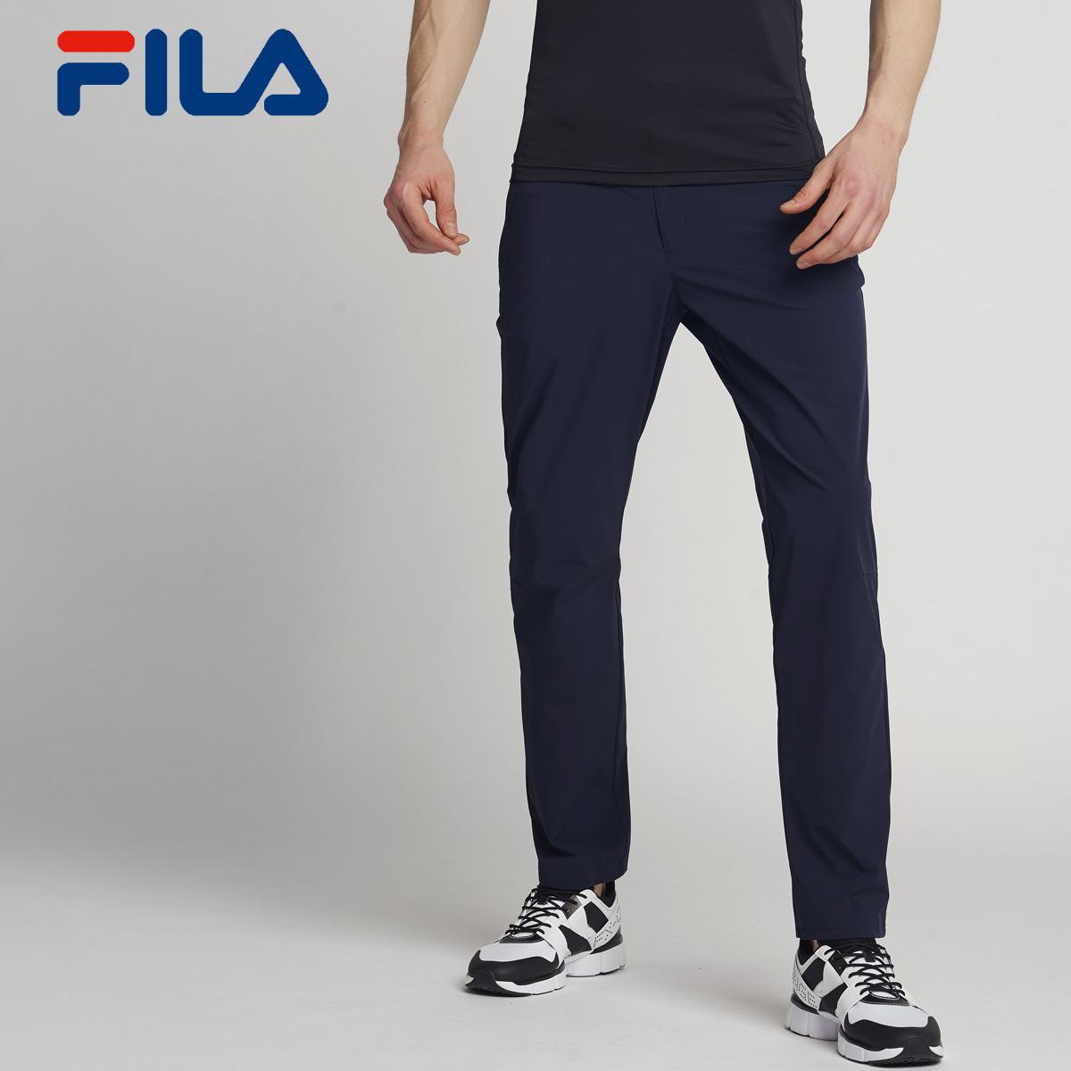 抢FILA斐乐男裤夏季新款梭织长裤休闲裤男|25724503