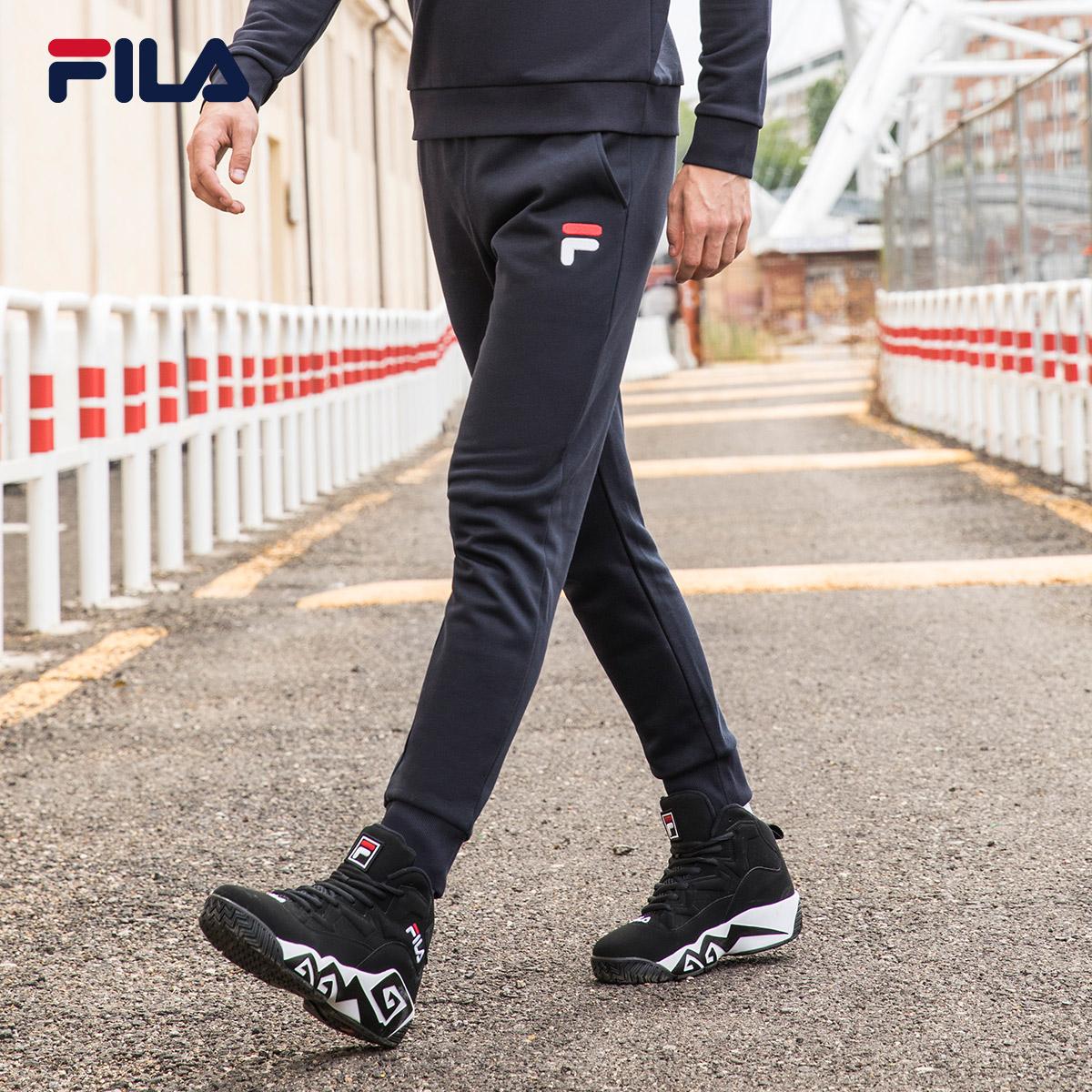 FILA斐乐男运动裤新款针织裤潮流休闲长裤男|F51M838605A