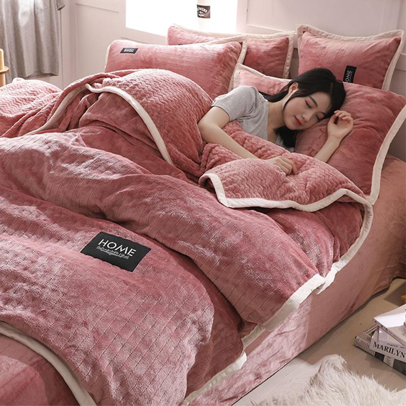 加厚保暖法兰绒四件套珊瑚绒冬季1.8m床品双面法莱绒被套床单床笠
