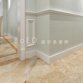 白色瓷砖踢脚线100 600哑光地脚线800佛山陶瓷仿古地砖欧式配件