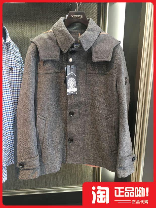 СКОФИЛД мужской счетчик подлинной покупки пальто шерсти 14 зимняя SMJW4FVP02 JW4FVP02