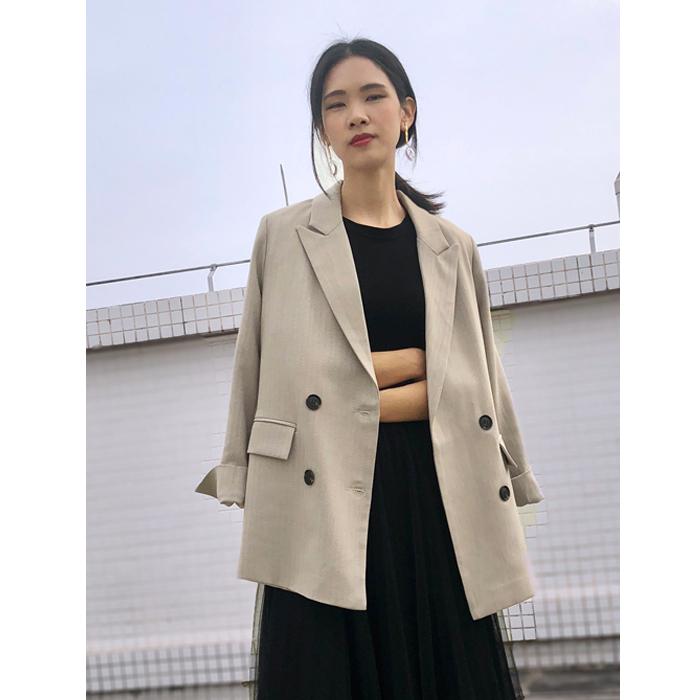 Ins net red suit coat womens autumn 2020 new Korean leisure chic retro herringbone pattern small suit