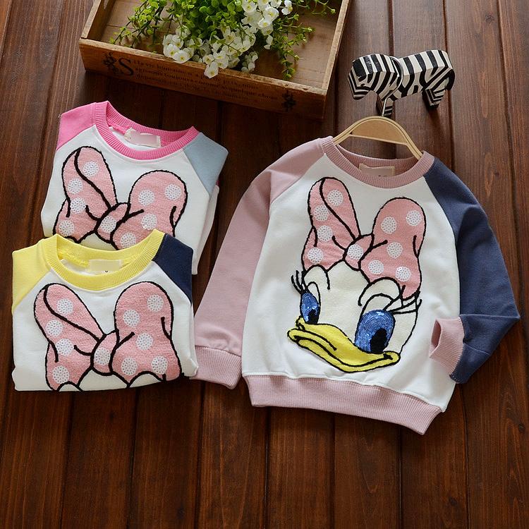 2016 детей Вэй Yiying для детей осенью девушек длинные рукава дна рубашки 1-2-3-4 младенца хлопка t рубашка