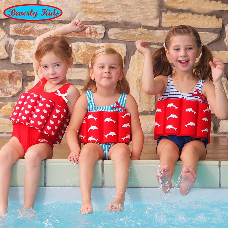 Childrens Buoyancy Swimsuit girls boys one piece swimsuit babys swimsuit babys life jacket middle school childrens swimsuit