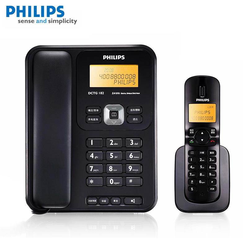 飞利浦DCTG182数字无绳电话机子母机家用办公座机一拖一免提通话