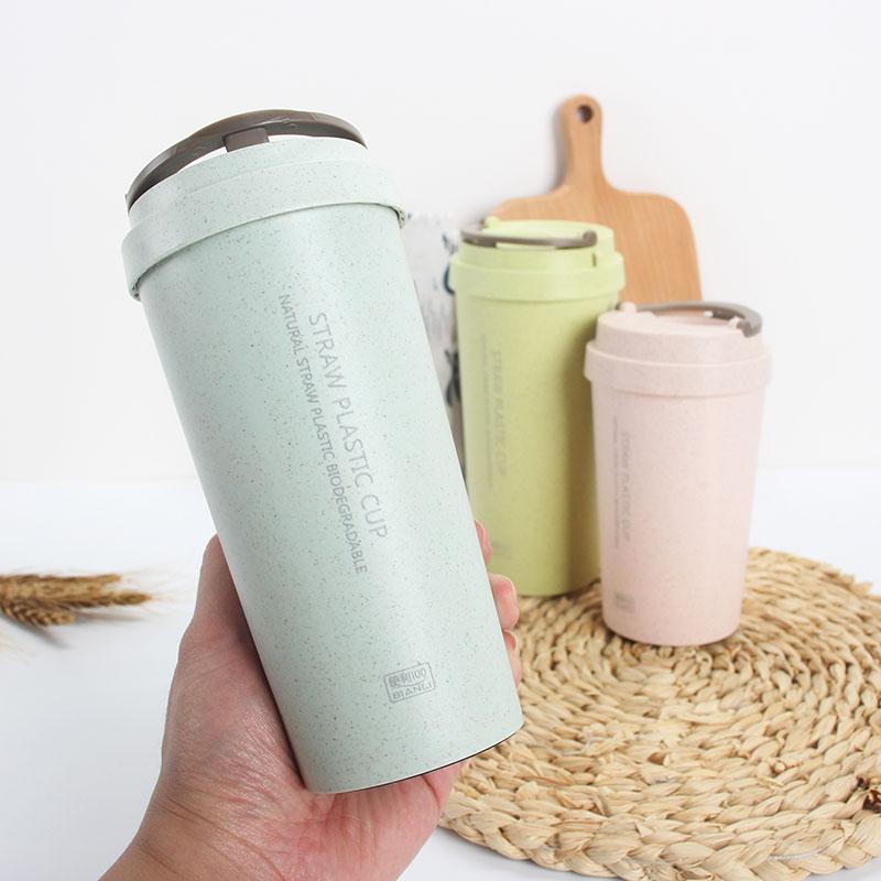 韩版小麦秸秆塑料水杯简约清新便携随手麦香咖啡杯女学生原宿杯子(非品牌)