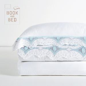 领100元券购买慢漫WHITE CONCEPT 100支PIMA皮马棉四件套 进口蕾丝欧式被套床单