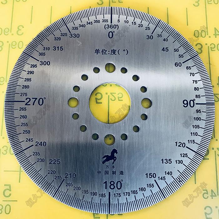 刻度盘 360度刻度盘 小刻度盘 量角器 不锈钢圆盘 100#20#2