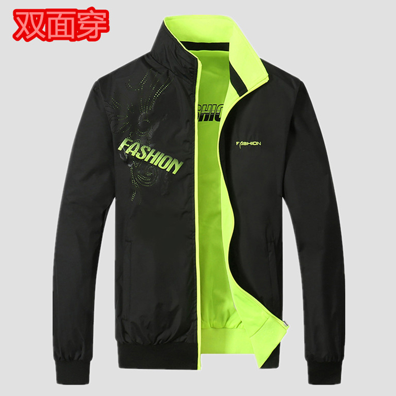 Spring and Autumn New Youth double / double sports casual jacket mens large jacket red thin singlet