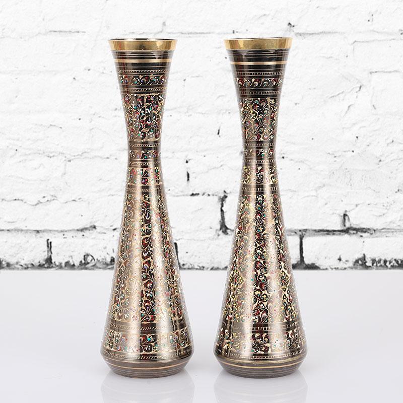 铜花瓶巴基斯坦铜器精美铜瓶子花型特色家居饰品手工艺品摆件16寸