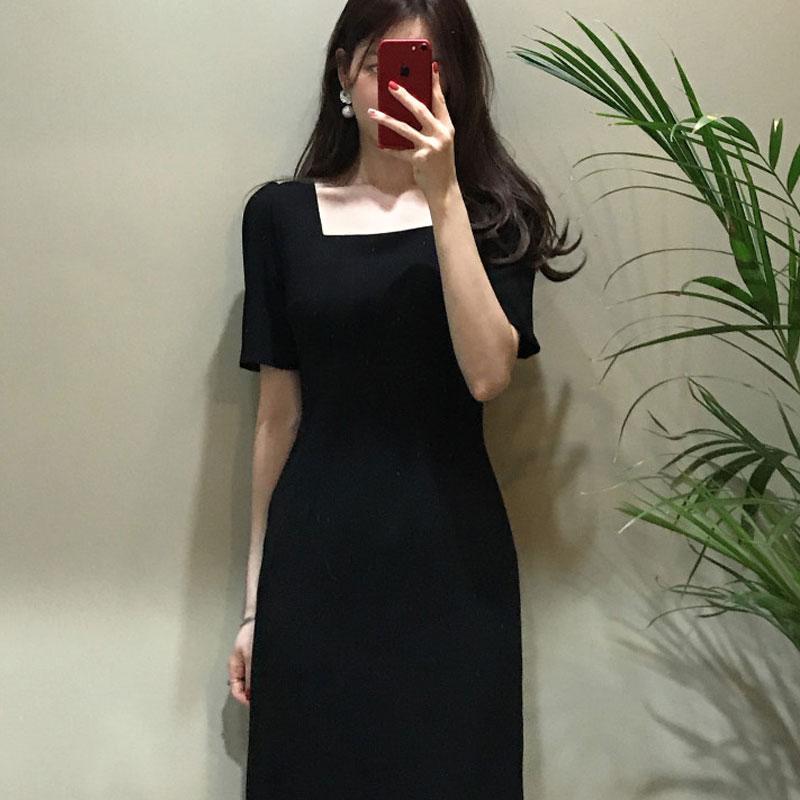 11月06日最新优惠b家自制夏季复古风小黑裙黑连衣裙