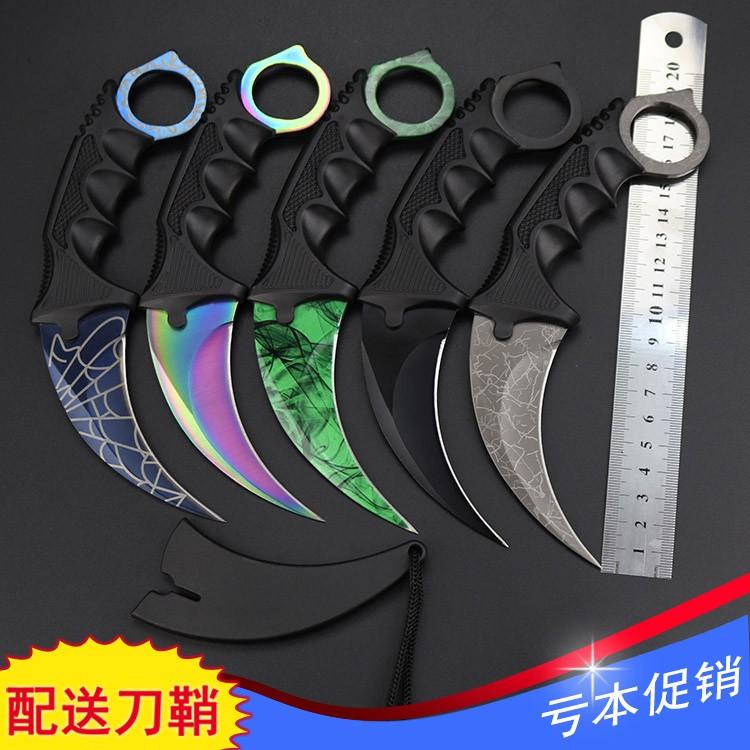 Ножевой защитный нож на открытом воздухе длинный фасон Paw War Wolf CSGO Scorpion Bladed Wild Eagle Cutter Knife