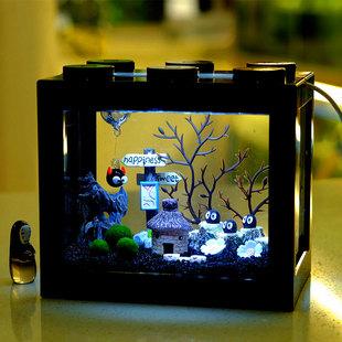 奇妙小屋海藻球微景观生态缸鱼缸桌面迷你水培植物小盆栽创意礼物