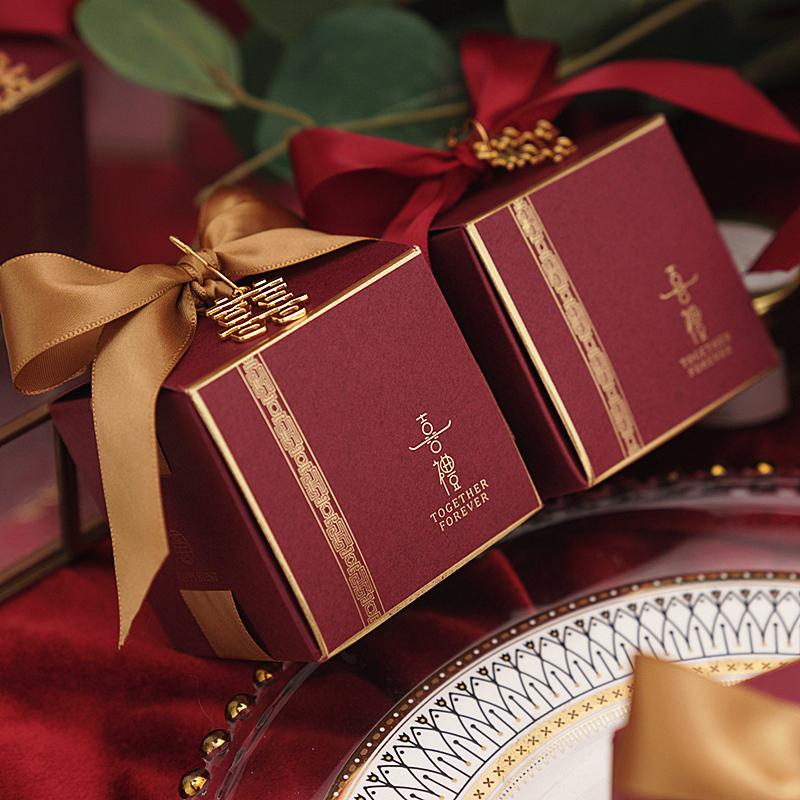 2020新款欧式喜糖盒子创意抖音ins风结婚礼盒包装网红空糖果纸盒