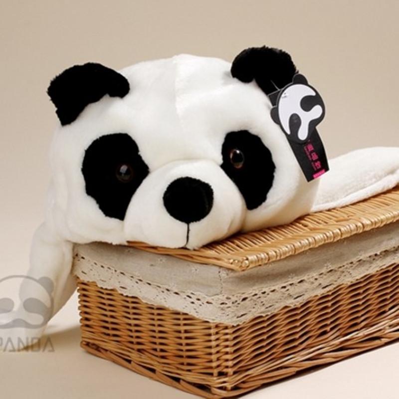 爱潘达熊猫帽子卡通毛绒儿童帽韩版可爱保暖护耳雷锋帽成都特色礼