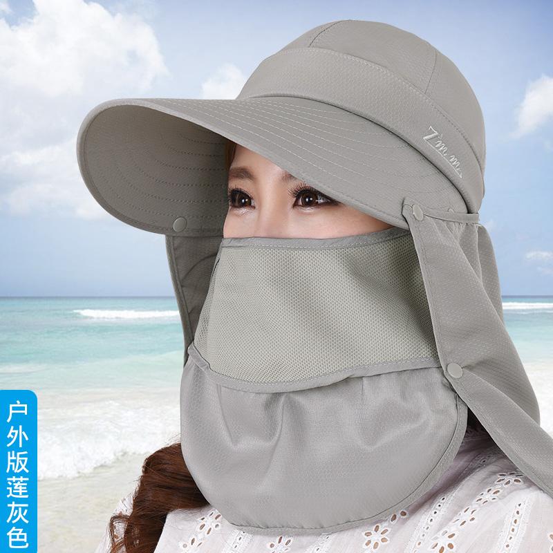 子女夏天遮脸防紫外线骑车防晒帽限1000张券