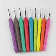 手工diy编织糖果色彩虹色 软柄勾针钩针工具