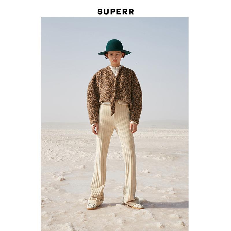 SUPERR vol.16 宽条绒修身中腰喇叭裤