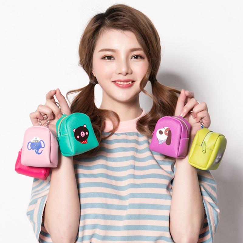 韩版皮质零钱包硬币包迷你短款可爱小零钱袋女士可爱手拿包小钱包