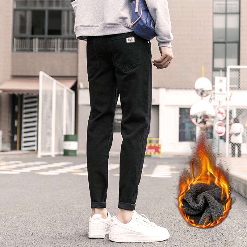 牛仔裤男秋冬款韩版潮流修身小脚加绒长裤5010加绒/5011加绒-P55