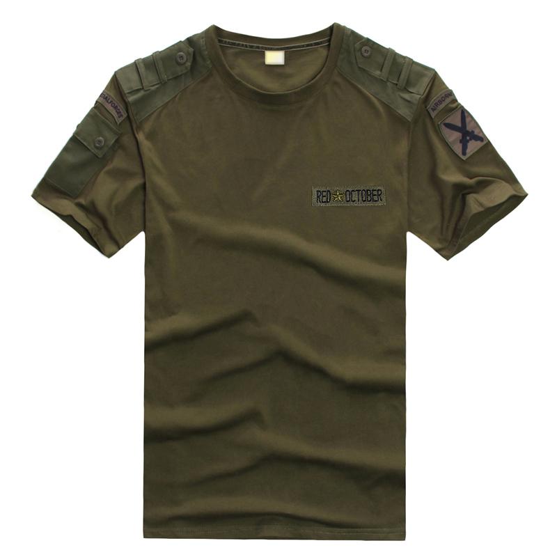 户外军迷用品军装服饰T恤 特种部队宽松加大黑色军绿T恤