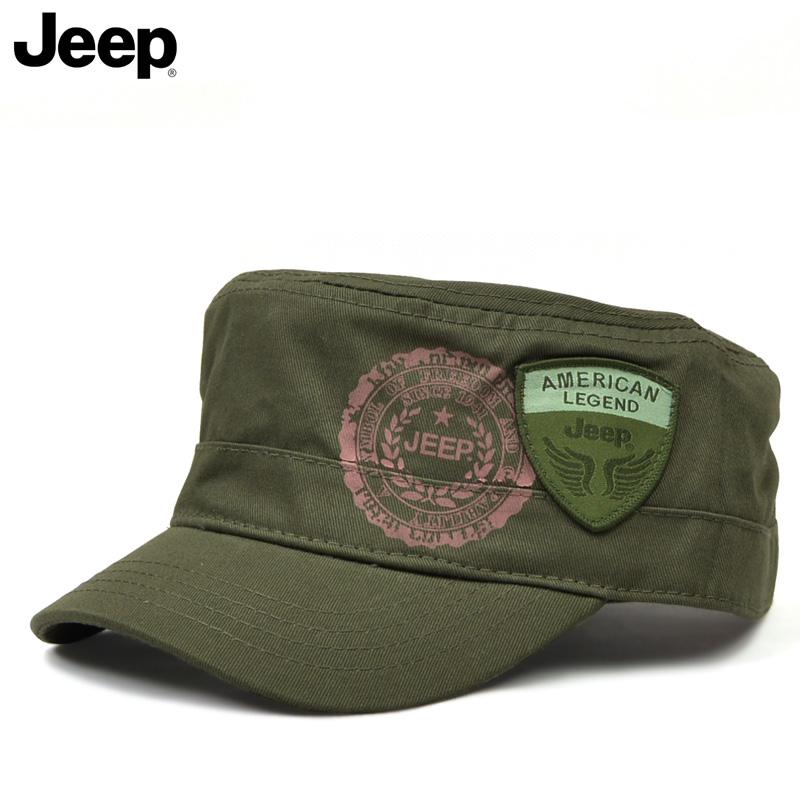 新款包邮JEEP/吉普平顶帽户外遮阳帽运动休闲字母帽男女帽子J051
