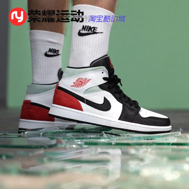 Air Jordan 1 Mid SE AJ1小Union 白红 中帮 篮球鞋 852542-100图片