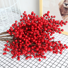 Christmas red fruit acacia bean artificial flower living room decoration red fake flower red bean fruit floor decoration