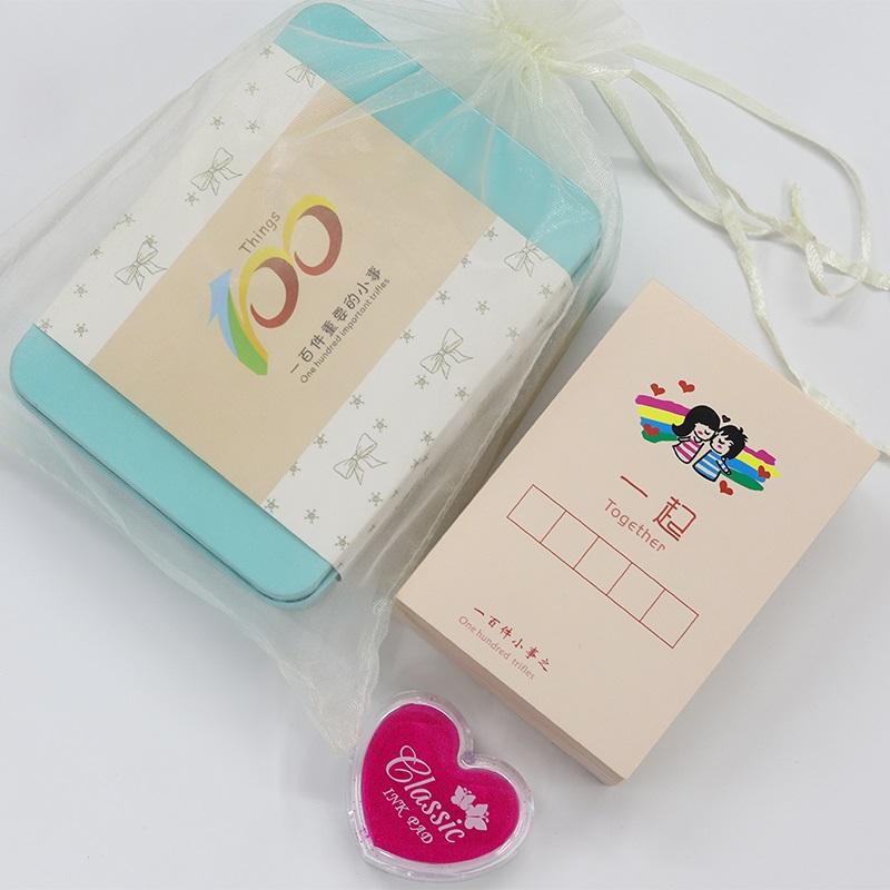 情侣100件事恋爱必做一起要做的一百件小事生日中秋节贺卡小卡片,可领取30元天猫优惠券