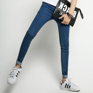 显瘦紧身小脚裤 男弹性长裤 牛仔裤 青少年男式 百搭男生修身 子 韩版