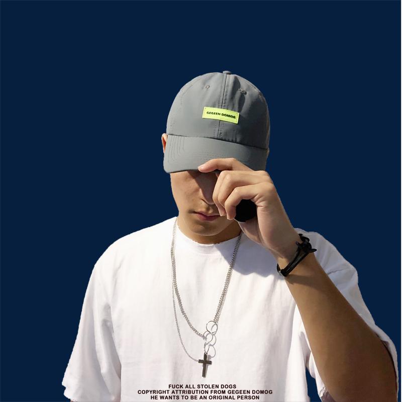 薄款夏季原创潮牌鸭舌帽尼龙面料速干轻薄棒球帽荧光绿防水老爹帽10月19日最新优惠