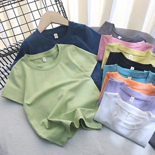 t恤棉半袖 2021新春夏装 儿童短袖 童装 日系打底短袖 女童t恤男童短袖