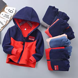 儿童摇粒绒女童拉链衫 上衣男童冬装 秋装 2020新款 外套 加绒加厚童装