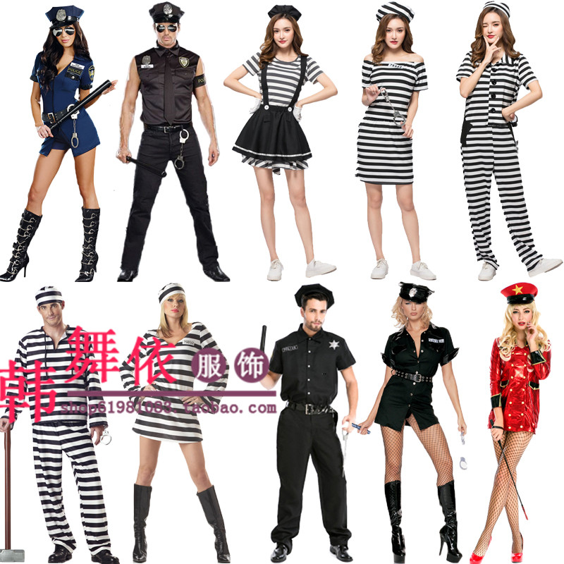Policewoman costume bar club party cos Costume Halloween policewoman Costume Costume temptation role play