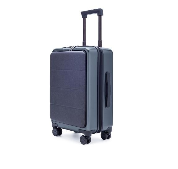 小米90分轻商务旅行箱拉杆箱 男女万向轮登机行李箱 钛金灰前开盖图片