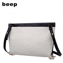 Beep 2009 Summer leather lady's bag with cowhide embossed head, leisure fashion, one shoulder slanting kitten bag
