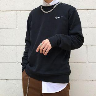 咬鞋 现货G耐克Nike W Essential Crewneck廓形版型 加绒小勾卫衣