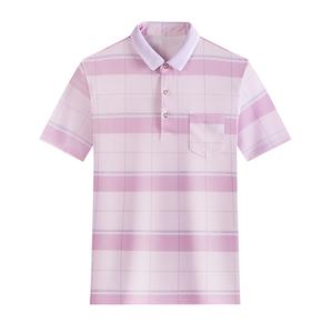 夏季新款薄款翻领男士短袖T恤POLO衫纯棉冰丝潮流修身t体恤爸爸装