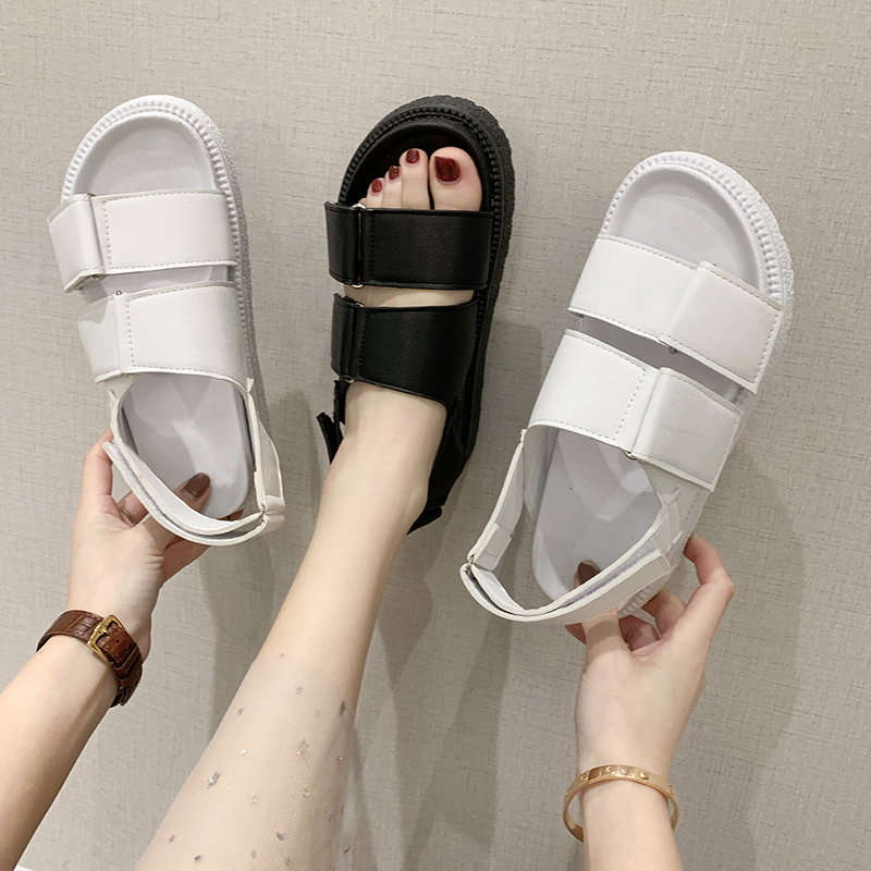 Sports heel sandals minimalist dad shoes new style net red very fairy sports soft soles light to wear with skirts in summer