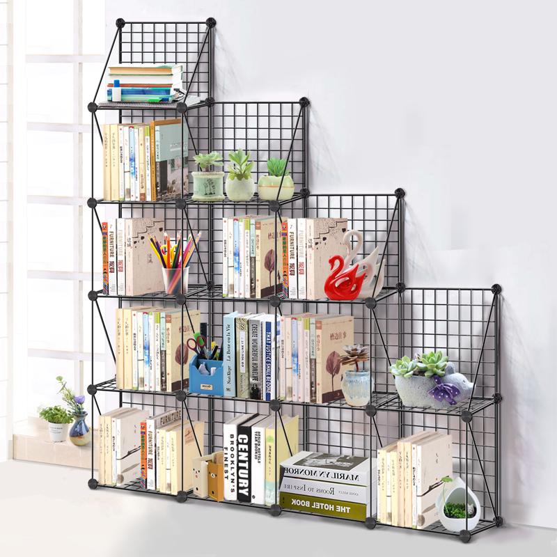 圣若瑞斯简易创意铁艺组合小书柜满50.00元可用25元优惠券
