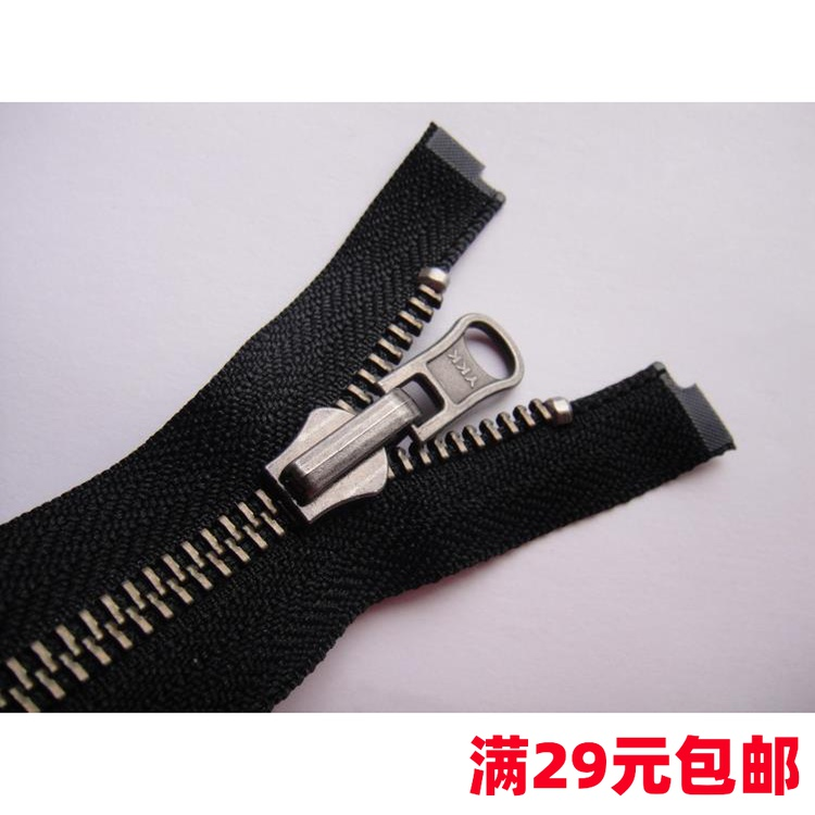 5 double sided metal black ancient silver teeth YKK copper zipper Du rotary head 55.560616470cm