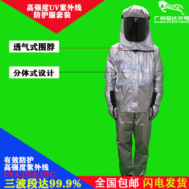 Experimental radiation protective clothing industrial gloves high intensity UV protective clothing UV curing lamp UV protective clothing
