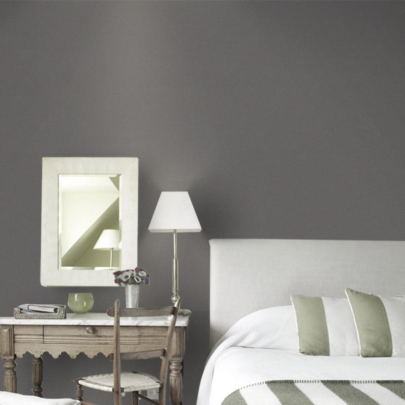 北欧现代简约纯色素色无纺布系墙纸