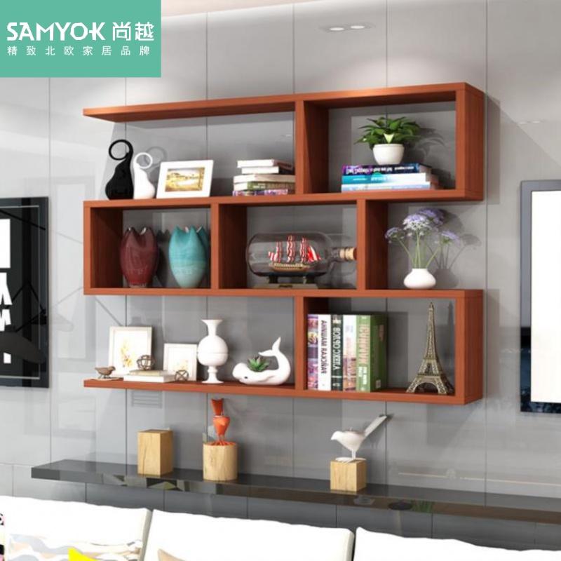 11月01日最新优惠挂墙壁儿童房书架置物架墙上小百货架客厅壁挂式柜卧室电视墙柜
