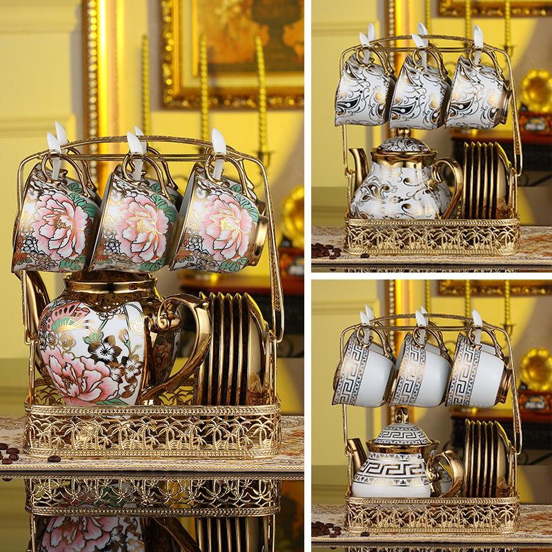 Континентальный чайный сервиз керамика кофе инструмент костяной фарфор кофе установите высококачественный британская пакет домой днем ароматный чай чашка инструмент