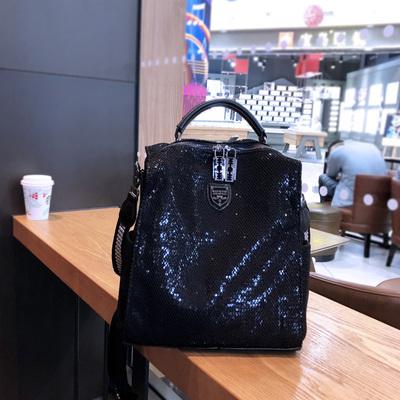 2021新款时尚潮流网布双肩包女休闲百搭多用旅行背包软单肩手提包