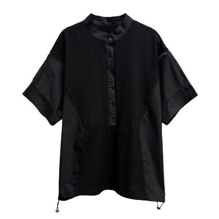 欧美镂空绣花宽松t恤蝙蝠袖潮衬衫