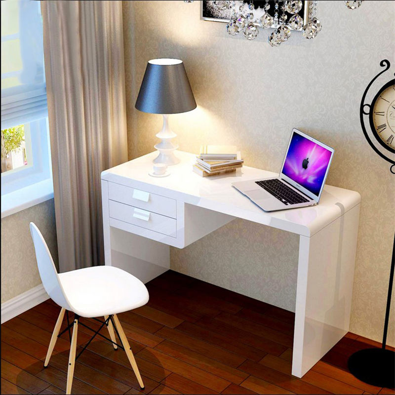 Современный простой студент бытовой электрический мозг рабочий стол белый лак письменный стол ноутбук компьютерный стол спальня небольшой стол